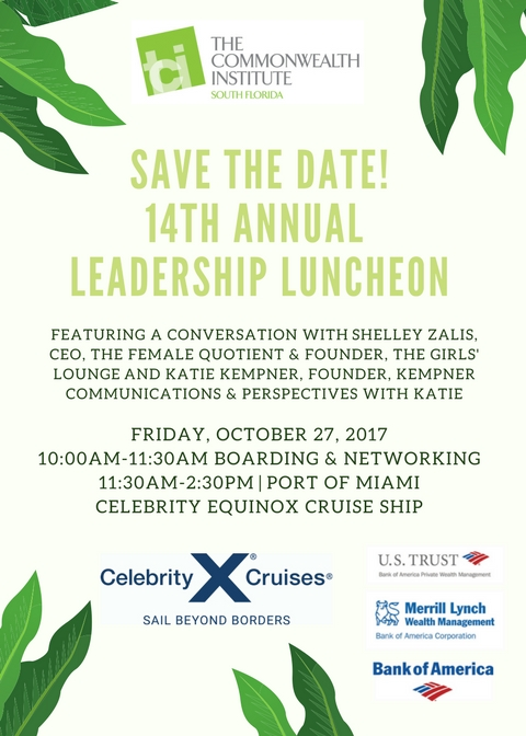 14th Annual Leadership Luncheon_Save the Date